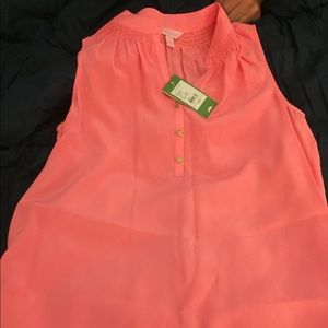 TWO Lilly Pulitzer silk NEW tops for price of 1